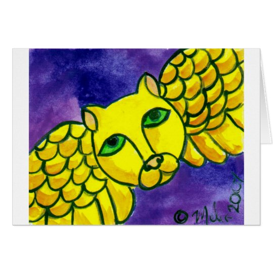 YellowAngelCat Card