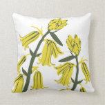 Yellowbell Blossom Decor#12g Modern Throw Pillow