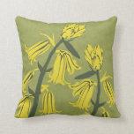 Yellowbell Blossom Decor#12h Modern Throw Pillow
