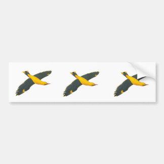 YellowBird Flying Bumper Sticker