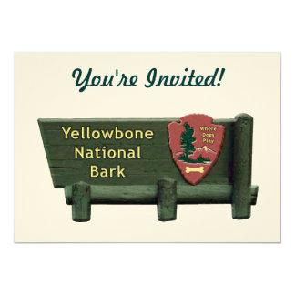 "Yellowbone Dog Park 5"" X 7"" Invitation Card"
