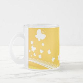 Yellowbutterflies Taza De Cristal