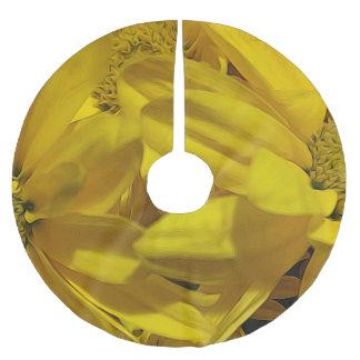 yellowdaisies brushed polyester tree skirt
