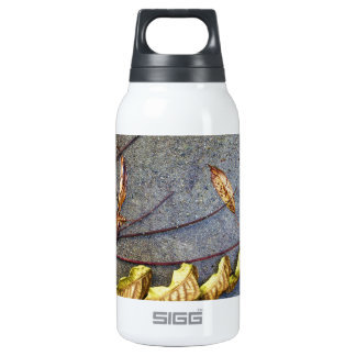 Yellowed Leaves on Autumn's Twig Insulated Water Bottle