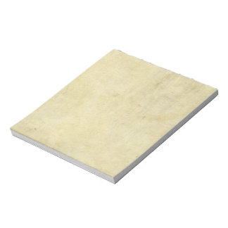 Yellowed Parchment Texture Notepad