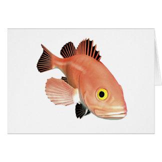 Yelloweye Pacific Rockfish Greeting Card