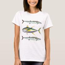 yellowfin and wahoo fish pattern T-Shirt