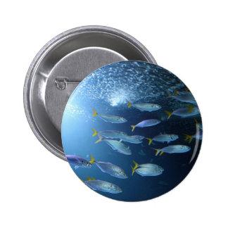 Yellowfin Tuna 2 Inch Round Button