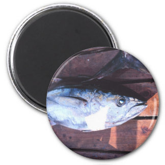 Yellowfin Tuna caught 2 Inch Round Magnet