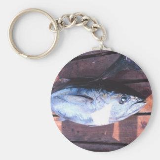 Yellowfin Tuna caught Basic Round Button Keychain