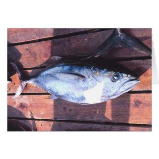 Yellowfin Tuna caught Card