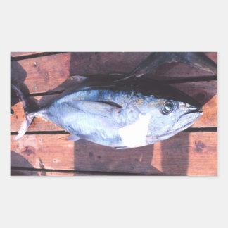Yellowfin Tuna caught Rectangular Sticker