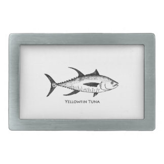 Yellowfin Tuna Logo Belt Buckle