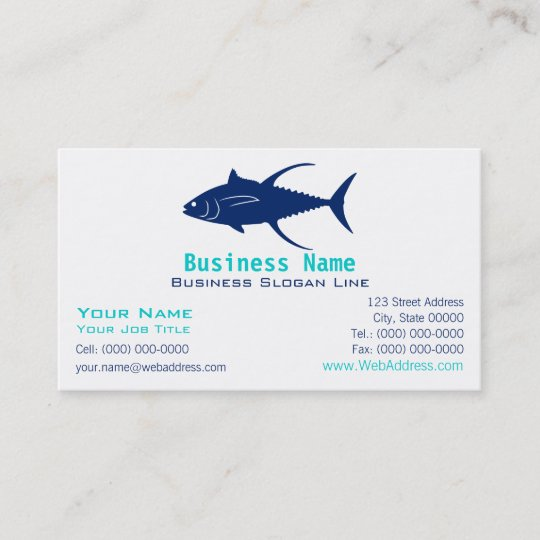 Yellowfin Tuna Silhouette Business Card   Zazzle.com