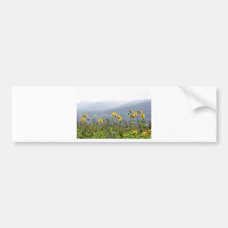 yellowflower pegatina de parachoque