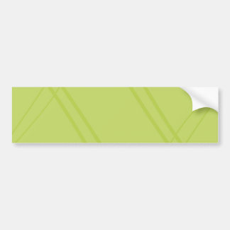 YellowGreen Crissed Crossed Car Bumper Sticker