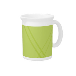 YellowGreen Crissed Crossed Beverage Pitchers