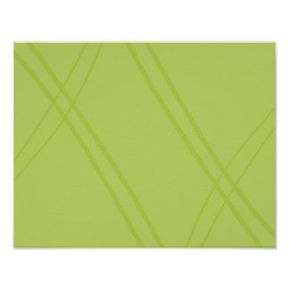 YellowGreen Crissed Crossed Poster