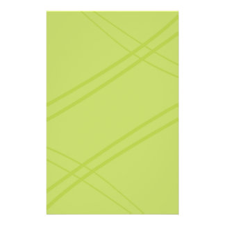 YellowGreen Crissed Crossed Stationery