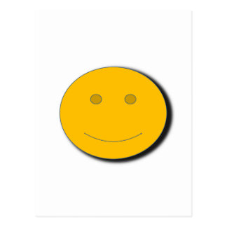 yellowhappyface postcard