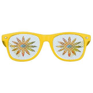 Yellowish Eye Flower Retro Sunglasses