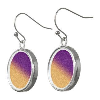 Yellowish Gold with Purple Earrings