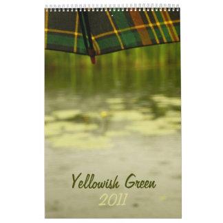 Yellowish Green 2011 calendar