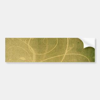 Yellowish Green GRUNGE SWIRLS DIRTY BACKGROUNDS W Bumper Sticker