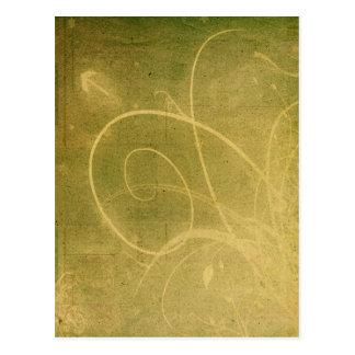 Yellowish Green GRUNGE SWIRLS DIRTY BACKGROUNDS W Postcard