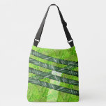 Yellowish green stock market with risks and traces crossbody bag