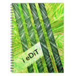 Yellowish green stock market with risks and traces notebook