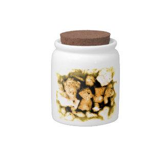 Yellowish Pebbles Abstract Candy Dish