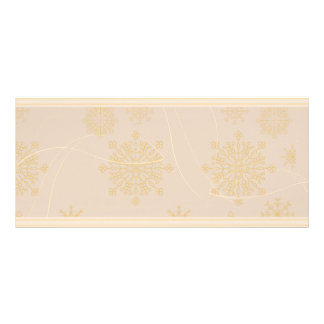 Yellowish swirls and texture personalized rack card