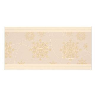 Yellowish swirls and texture photo card