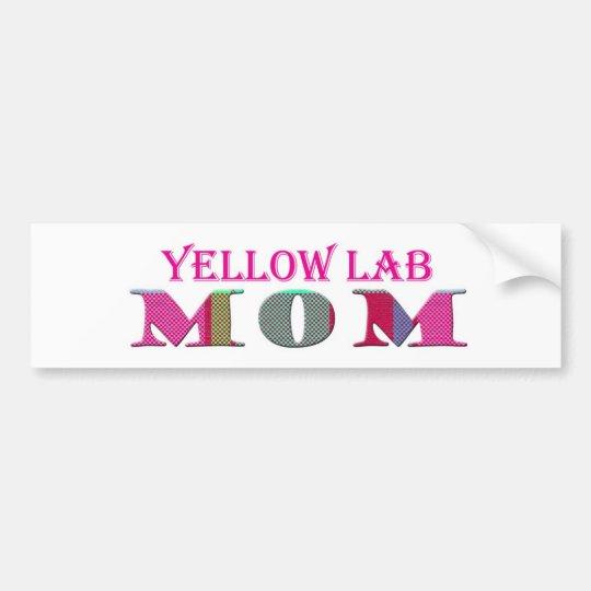 YellowLabMom Bumper Sticker