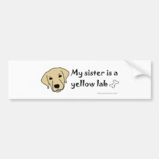 YellowLabSister Bumper Sticker