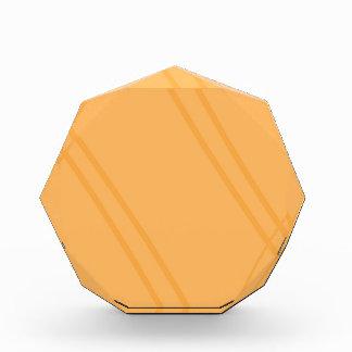 YellowOrange Crissed Crossed Acrylic Award