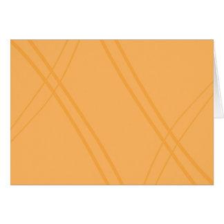 YellowOrange Crissed Crossed Card