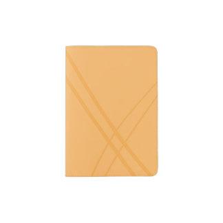 YellowOrange Crissed Crossed Passport Holder