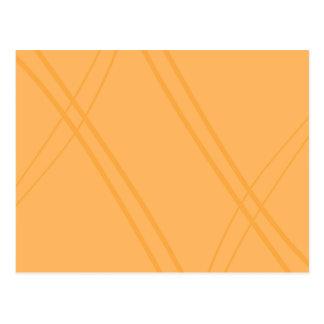 YellowOrange Crissed Crossed Postcard