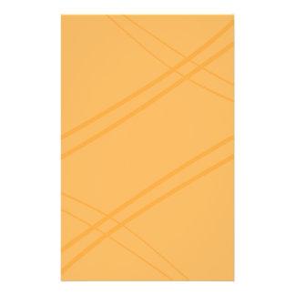 YellowOrange Crissed Crossed Stationery