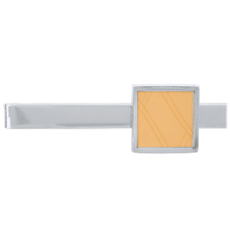 YellowOrange Crissed Crossed Silver Finish Tie Bar