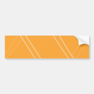YellowOrangeInverted Crissed Crossed Car Bumper Sticker