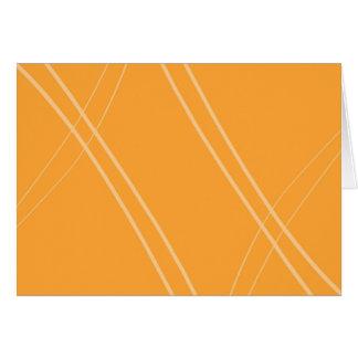 YellowOrangeInverted Crissed Crossed Card
