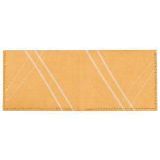 YellowOrangeInverted Crissed Crossed Billfold Wallet