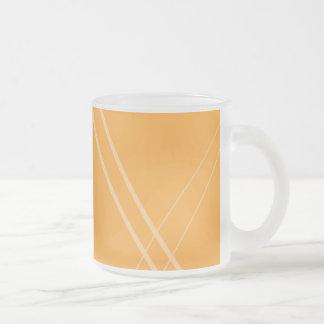 YellowOrangeInverted Crissed Crossed Frosted Glass Coffee Mug