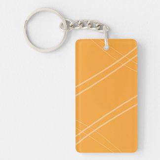 YellowOrangeInverted Crissed Crossed Single-Sided Rectangular Acrylic Keychain