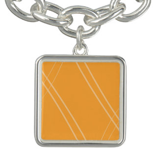 YellowOrangeInverted Crissed Crossed Charm Bracelet