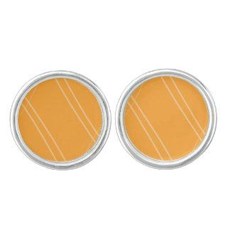 YellowOrangeInverted Crissed Crossed Cufflinks