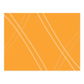 YellowOrangeInverted Crissed Crossed Postcard